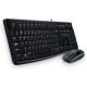 Logitech Ensemble clavier-souris filaire USB noir Desktop MK120