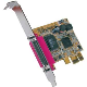Digitus Carte PCIe 1x Parallèle DB25 ECP/EPP avec bracket Low Profile