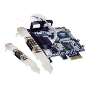 (generique) Carte PCIe 1x RS232 (COM DB9) 2 ports avec bracket Low Profile