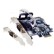(generique) Carte PCIe 1x RS232 (COM DB9) 2 ports avec bracket Low Profile