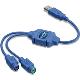 (generique) Adaptateur USB vers 2 ports PS/2 0,30 mètre
