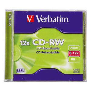 Verbatim CD-RW 700 Mb 16-24x DataLife Plus - Boite Crystal