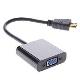 (generique) Câble HDMI mâle vers VGA femelle 20 cm