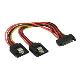 (generique) Adaptateur d'alimentation Serial ATA vers 2 x Serial ATA
