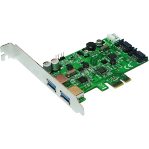 Logilink Carte PCIe 1x 2 ports Serial ATA 6 Gb/s + 2 ports USB 3.0 Super-Speed