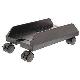 Konig Support à roulette noir ajustable de 14,5 à 24,2 cm pour boitier ATX