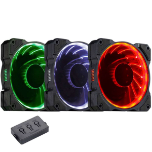 Jonsbo Pack de 3 ventilateurs FR-131 RGB 120 mm 1000 RPM 18 dBA