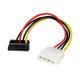 (generique) Adaptateur d'alimentation Molex 4 pins vers 1 x Serial ATA coudé