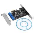 (generique) Carte PCIe 1x LP USB 3.0 Super-Speed 2 ports internes 19 points