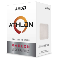 Amd Athlon 3000G AM4 2 coeurs 4 threads 3,5 GHz 12 nm cache 4 Mo Vega 3
