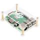 (generique) Boitier ABS transparent pour Raspberry Pi 4 ref. RB-CaseP4+01