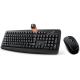 Genius Ensemble clavier-souris sans fil RF 2,4 GHz noir Smart KM-8100