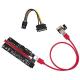 (generique) Adaptateur PCI-E 16x vers PCI-E 1x avec câble USB 3.0 et alim. SATA