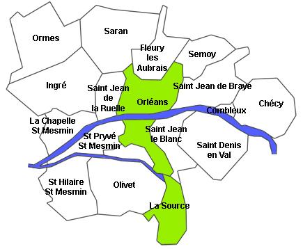 carte zones intervention