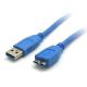 (generique) Câble USB 3.0 type A mâle vers Micro-USB mâle 1,8 mètre