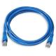 (generique) Câble réseau RJ45 droit 2 mètres CAT.6 S-FTP bleu