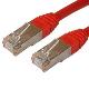 (generique) Câble réseau RJ45 droit 0,5 mètre CAT.6 S-FTP rouge