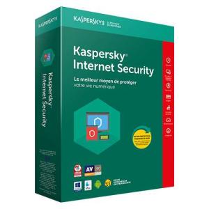 Kaspersky Antivirus IS 2019 licence boite pour 3 appareils et 1 an de service