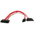 (generique) Câble Serial ATA III 6.0 Gb/s 15 cm vers Serial ATA 13 points