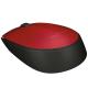 Logitech Souris optique sans fil compacte M171 rouge RF 2,4 GHz USB 1000 dpi